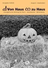 Ausgabe 4/2010 August / September ... - Meinekirche.info