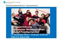 Rangliste Berufsmeisterschaft 2010 - Swissmechanic