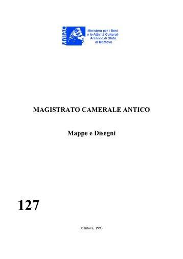 MAGISTRATO CAMERALE ANTICO Mappe e Disegni 127