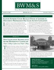 Bulletin - Burke, Warren, MacKay & Serritella, PC