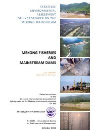 MEKONG FISHERIES AND MAINSTREAM DAMS - World Fish Center
