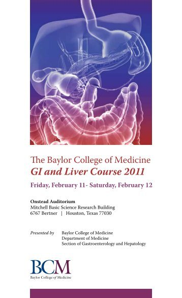 GI and Liver Course 2011 - CME Activities