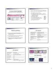La ricerca clinica in patologia