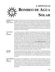 BOMBEO DE AGUA SOLAR - CEDECAP