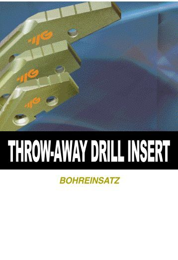 Throw-Away Drill Inserts