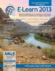 October 21-25, 2013 • Las Vegas, Nevada, US - Association for the ...