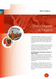 Shell's interests in Nigeria
