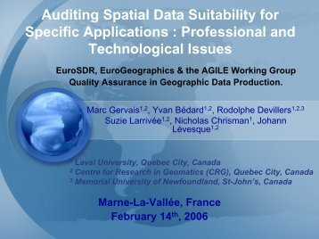 Research towards Spatial Data Quality Audit ... - EuroGeographics