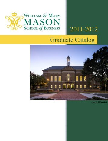 Download the full catalog - Mason School of Business