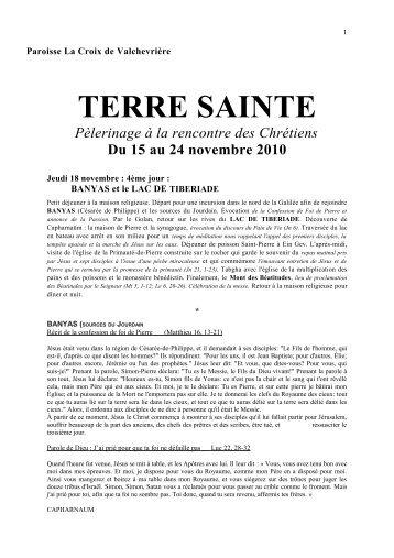 TERRE SAINTE - La Croix de Valchevrière