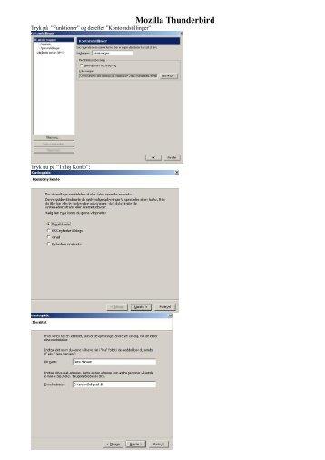 Opsætning af e-mail i Mozilla Thunderbird - DLG Tele