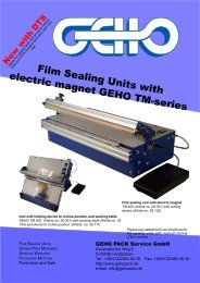 Film Sealing Units with electric magnet GEHO TM-series
