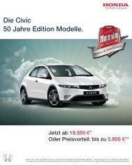 50 Jahre Edition Modell Honda Civic - HONDA-Autohaus Streit