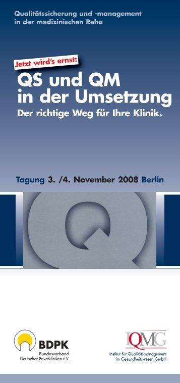 Programm mit Anmeldeformular - IQMG Institut für ...