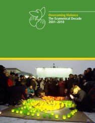 Overcoming Violence: The Ecumenical Decade 2001–2010
