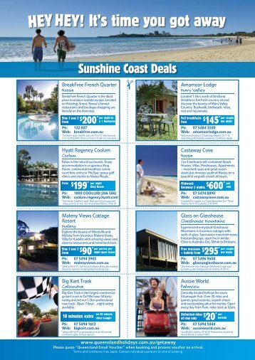 It's time you got away - Queensland Holidays