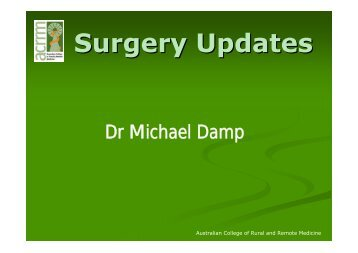 Surgery Updates - Australian College of Rural and Remote Medicine