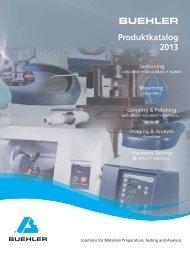 BUEHLER Produktkatalog 2013 - Buehler GmbH