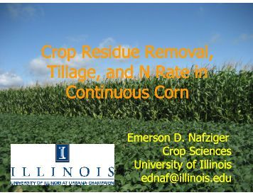 Crop Residue Removal - Indiana CCA Program