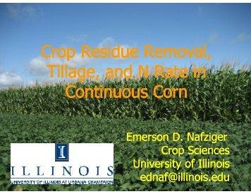 Crop Residue Removal - Indiana CCA Program