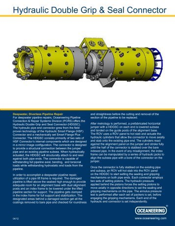 Hydraulic Double Grip & Seal Connector - Oceaneering