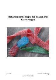 Therapiekonzept für Frauen mit Essstörungen ... - Klinik Wysshölzli