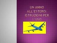 Un anno all'estero: istruzioni per l'uso - Liceo A. Rosmini