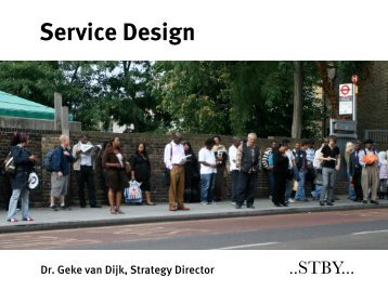 Service Design: Co-production at the moment of thruth - STBY