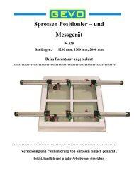 Sprossen Positionier- und Messgerät SPM - GEVO GmbH