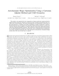Aerodynamic Shape Optimization Using a Cartesian ... - NAS - Nasa