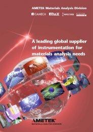 Materials Analysis Division Brochure - Cameca