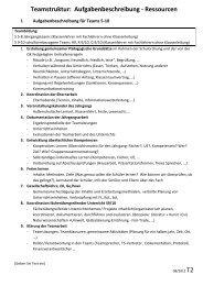 Teamstruktur: Aufgabenbeschreibung - Ressourcen - Gesamtschule ...