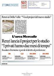 Via al project del nuovo stadio - Comune di Firenze