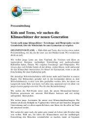 Pressemitteilung vom Januar 2009 - Klimaschutz-Vogtland.de