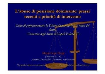 L'abuso di posizione dominante - Università degli Studi di Napoli ...