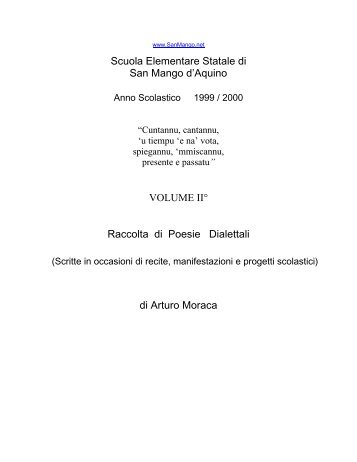 Scuola Elementare Statale di San Mango d'Aquino VOLUME II ...