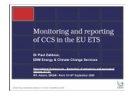 Monitoring and reporting of CCS in the EU ETS - IFP Energies ...
