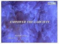 主題演講2:苗豐強-資訊化優質社會之發展願景 - 行政院科技會報