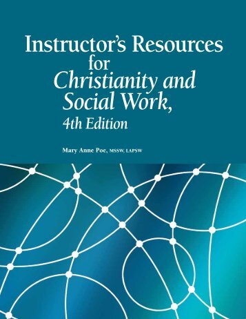 Instructor's Resources Christianity and Social Work - North American ...