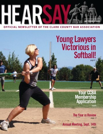 Sept 09 cover - Clark County Bar Association