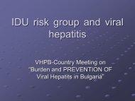 IDU risk group and viral hepatitis - Viral Hepatitis Prevention Board