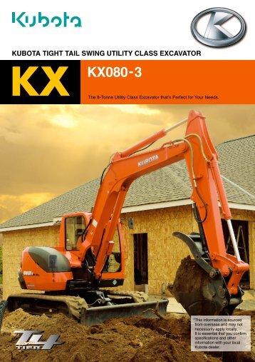 KX KX080-3 - Complete Hire
