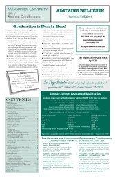 Advising Bulletin Summer-Fall 2011 FINAL - at www.my.woodbury ...