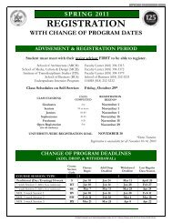 Registration Dates for 2011 Spring Classes and 2010 - at www.my ...