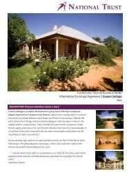 Information for Group Organisers   Cooma Cottage Yass - NSW