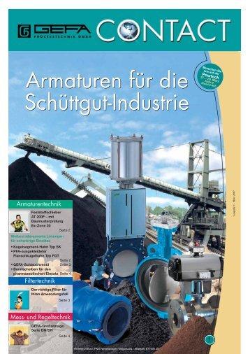 mit dem Kugelsegment-Hahn Typ SK - GEFA Processtechnik GmbH