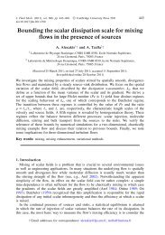 Bounding the scalar dissipation scale for mixing flows in the ...