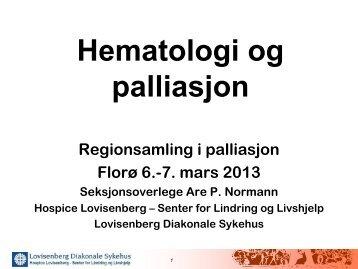 Hematologi og palliasjon. - Helse Bergen