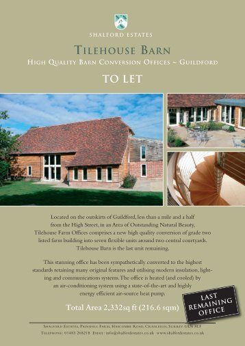 TO LET - Gascoignes Chartered Surveyors