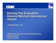 Deicing Pad Evaluation General Mitchell International Airport